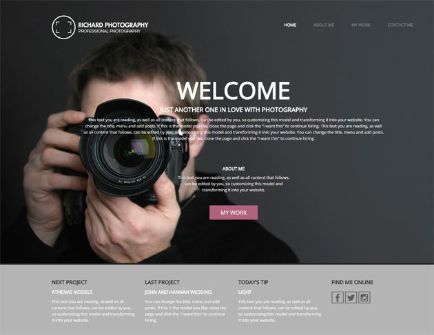 fullscreen website template