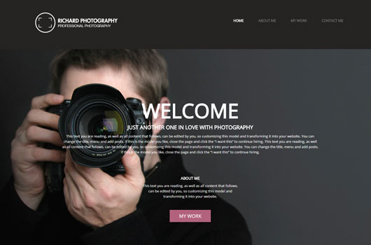 Photographer template